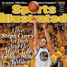 Check out who is gracing a regional cover of @sportsillistrated. The magazine hits newsstands later this week but you can an autographed copy today. Visit the Golden State Warriors on Facebook for details.