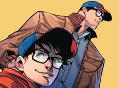 Clark Smith (A.K.A Superman) and Jon Kent (A.K.A Superboy) by Jorge Jimenez