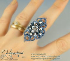 Altea , needle tatting tutorial for ring , pendant and more by Happyland87 on…