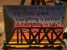 One Tree Hill Canvas I painted. Absolutely in love with this!
