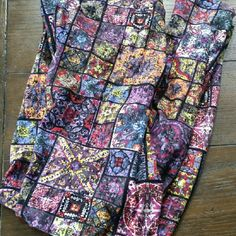 LuLaRoe Tall and Curvy Leggings NEW Beautiful stained glass / mosaic pattern, super HTF!  NWOT, never even tried on, made in China LuLaRoe Pants Leggings