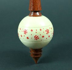 Bead spindle in holly and bloodwood / Woodland Woodworking