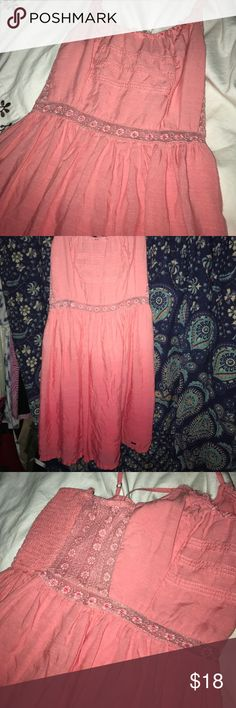 Hollister Ombré Dress EUC Hollister pink ombre dress. Size S. No signs of wear or defects. Straps are adjustable. Dress is lined. The sides and waist have sheer panels. Hollister Dresses Mini