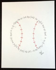 Baseball Psalm 96:12 for boys who love baseball. Awesome. for Baby D