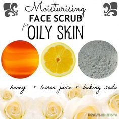 Super moisturizing face scrub for oily skin! Leaves your skin cleansed and moisturized to control oiliness. #facialcleanserforoilyskin