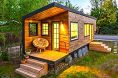 """My son wants this as a Bunkie """"bunk house"""". Small but perfectly formed: Macy Miller's tiny house in Boise, Idaho, which is only 196-square-feet - but boasts all the modern conveniences..."""