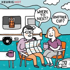 """Keurig fan Patty Pierce Pritchard likes to make sure there is a Keurig of her own wherever she goes. She says ""…We have a motor home, so we travel a lot! Now I just need to get the cruise ships ""on board""…so we have them when we cruise!""  Patty, may all your travels be safe and full of coffee!"""