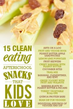 15 Clean Eating Snacks that Kids Love! #SkinnyMsMom