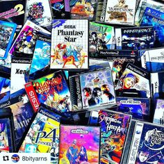 #Repost @8bityarns with @repostapp  I prefer taking pictures outside weather permitting for many reasons such as WHO CARES look at all these JRPGs!! . I have to hand it to @the_prkidd. Great instagram account. Devious mind. Possibly evil. But still polite! Like a Bond villain but with fewer private islands (that I know of). . His latest evil scheme was to appeal to my sense of vanity (always a safe play) and have me take a #jrpgscatter pic in order to mess up my collection. Well mission…