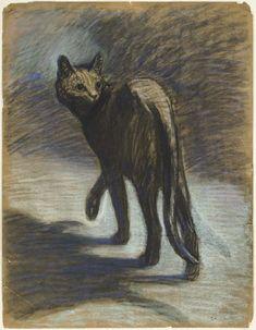Théophile-Alexandre Steinlen (1859-1923), Chat Errant.