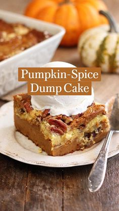 Pumpkin Recipes, Fall Recipes, Sweet Recipes, Holiday Recipes, Snack Recipes, Pumpkin Delight, Cake Decorating Videos, Fall Baking, Pumpkin Dessert