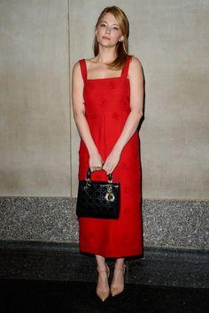 Haley Bennett en Dior à New York