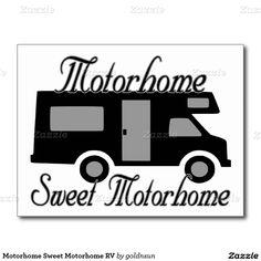 Motorhome Zoete Motorhome rv Briefkaart