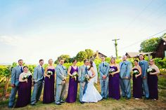 My wedding party and our colors.
