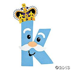 """K Is For King"" Letter K Craft Kit"