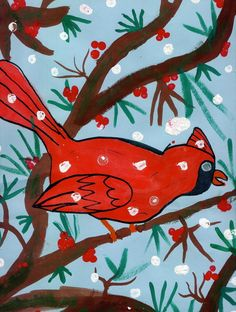 Cardinal - nice for spacial and science tie-in. Good winter project.