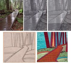 How To Do Landscape Quilting | From photo to quilt--Dream Landscapes