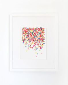 Colorful Dots Falling Watercolor Art Print by YaoChengDesign