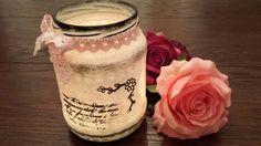 zavaraninova flasa ako svietnik (glass cup - candlestick)