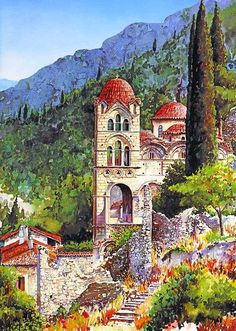 Craft & Creativity: Watercolor Landscapes by Pantelis D. Zografos