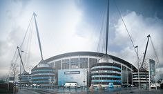 The City of Manchester stadium, home of Manchester City football club and originally built to host the 2002 Commonwealth games.