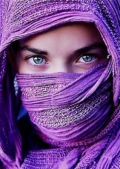 purple • violet • portrait • photography • character inspiration • scarf