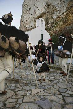 Dionysian dance. Carnival in Skyros Sporades.