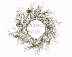 Snowy Wreath W Pinecones, 40cm @ gainsboroughgiftware.com