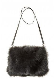 Fur Muff Crossbody Bag