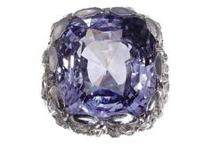 The Collection of Elizabeth Taylor | Christie's. a A Belle Époque Lavender Sapphire, diamond and Platinum Ring. Price Realized: $ 48,000