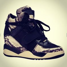 Wedge Python Footwear for Fall 2013