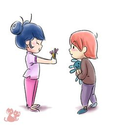 little Marinette and Nathanael