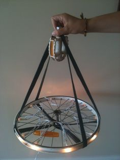 Upcycling: From bicycle parts, to hanging lamp