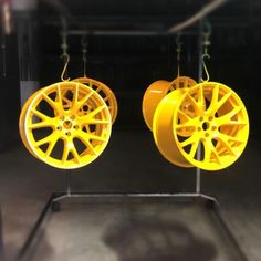 These Hellcat Wheels were brought to life with Prismatic Yellow Jasper courtesy of 🤙 Powder Coating Oven, Jasper, Wheels, Industrial, Paint, Yellow, Blog, Life, Powder Coating