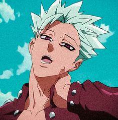Seven Deadly Sins Anime, 7 Deadly Sins, Ban And Elaine, Ban Anime, Seven Deady Sins, Love Drawings, Kawaii Anime Girl, My Hero Academia Manga, Anime Boys