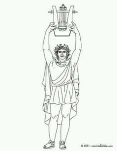 27 Best Greek God/dess' Coloring Pages images in 2019