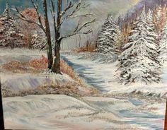 """FIRST SNOW"" Original Acrylic Art By: Lorna Deininger"