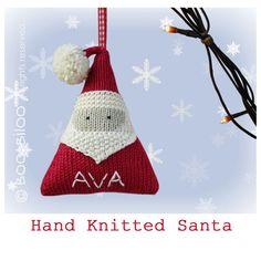 Santa Claus Knitting Pattern. Christmas decoration / by BooBiloo