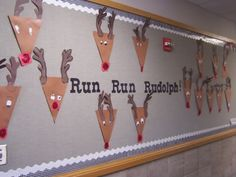 cute and easy reindeer; use children's handprints for antlers though