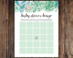This listing is for DIGITAL, PRINTABLE, hi-res Baby Shower Bingo Sign files. After downloading, feel free to print them at home or at any