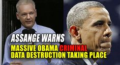"""Another warning has been issued by Julian Assange of an unknown number of crimes that are occurring now, across the Obama criminal operation, the elimination of evidence of their crimes through the destruction of public records. Assange is offering a $30,000 reward to any regime employee publicly exposing the official destruction of such information. In a Monday interview, he said more needs to be done to protect those valuable records. Assange was asked, """"What is the most important thing…"""