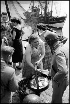 BELGIUM. 1957. A fisherwoman.
