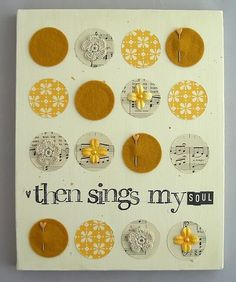 LOVE this. apparently i have a thing for art that incorporates hymn lyrics/scripture.