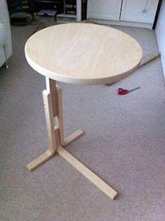 Придиванный столик из табурета ФРОСТА
