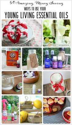 50 Ways to Use Young Living Essential Oils!  DIY natural cleaners, delicious recipes, homemade health and beauty products and more!