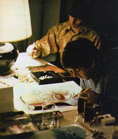 Ringo and Paul painting