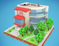 """Check out new work on my @Behance portfolio: """"Low Poly Hotel"""" http://on.be.net/1LaWuKu"""