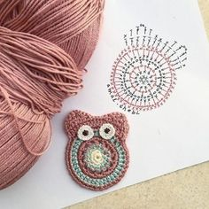 Eule Häkelanleitung Eule Häkelanleitung Learn the rudiments of how to crochet, at the very first. Owl Crochet Patterns, Crochet Owls, Crochet Crafts, Crochet Flowers, Crochet Projects, Knit Crochet, Crochet Diagram, Crochet Motif, Crochet Stitches
