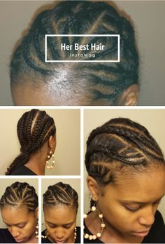 Natural hair. Cornrows. Protective Style.