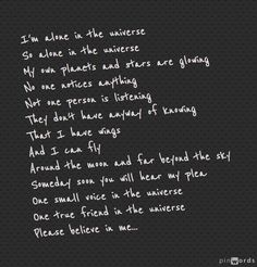 Alone in the Universe. ~ Seussical the Musical